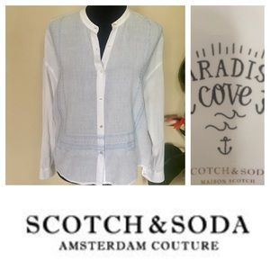Scotch & Soda Tops - NWT Scotch & Soda Linen Blouse Sz petite