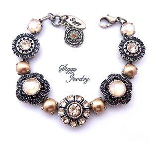 Swarovski Crystal Flower Embellished Bracelet