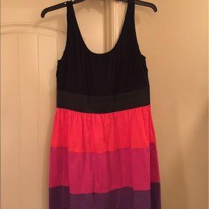A-line Color Block Tank Dress
