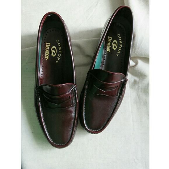 Dexter Shoes Mens Penny Loafers Burgundy Oxblood 10 Poshmark