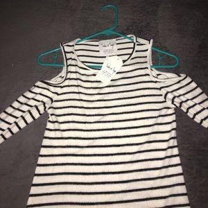 Sadie & Sage Tops - NWT stripe long sleeve