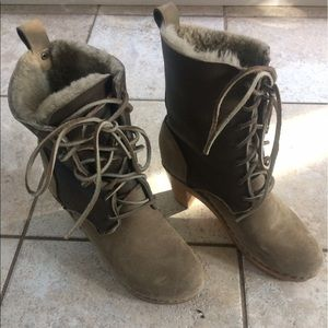 no. 6 Shoes - No. 6 clogs Lace up boots with shearling lining