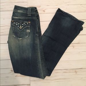 Miss Me Denim - Miss Me Bootcut Jeans Rhinestone Size 27