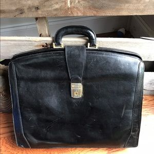 Bosca Other - Bosca double gusset Italian leather briefcase