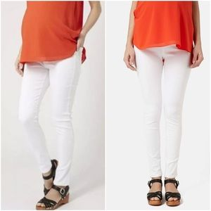 Topshop MATERNITY Denim - Topshop Joni White Maternity Stretch Skinny Jeans
