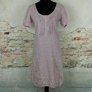 European Culture Dresses & Skirts - European Culture Royal Dye Sz M Linen Blush Pink