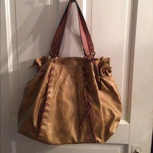 Tan and brown large bag
