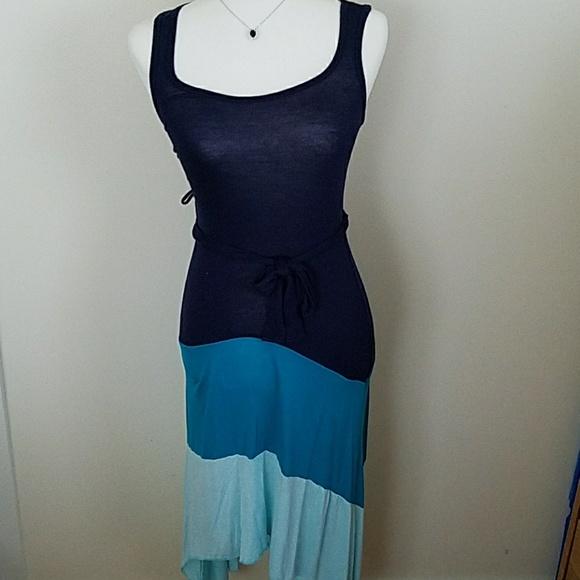 ef0468ca935 Lily Bleu Beach Dresses   Skirts - Beach dress hi lo color block maxi