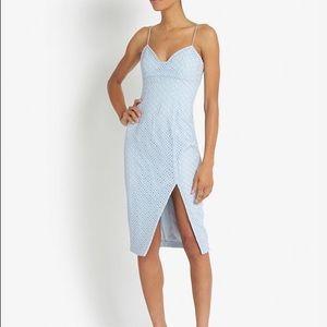 nicholas Dresses & Skirts - Nicholas Geometric Lace Dress in Blue