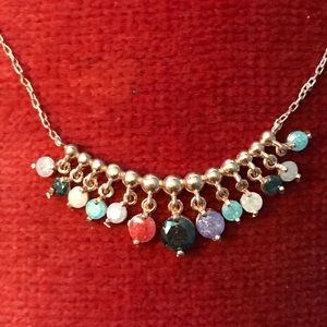Jewelry - 💗MULTI-GEMSTONE NECKLACE•925 SS➕ BRONZE💗