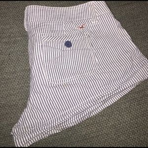 Hollister striped shorts