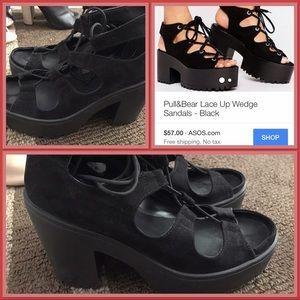 Asos lace up sandals