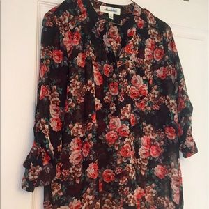 Alice Blue Tops - Floral long sleeve blouse