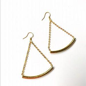 Bondhu Jewelry - 24K Gold Bar Swing Chandelier Earrings