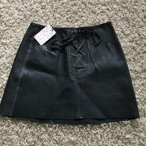 dc9e61d74e Free People Skirts - New Free People Join Hands Leather Skirt