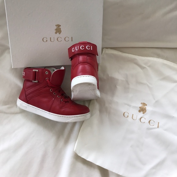 Gucci Shoes | Gucci Boys Red High Top