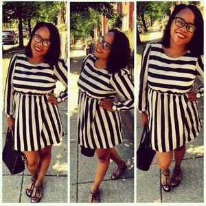 Xhilaration Dresses & Skirts - Cute black and white stripped Xhilaration Dress.