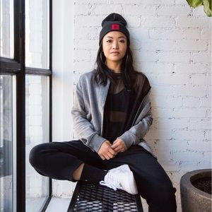 Nike Tops - Nike Grey Fleece Varsity Jacket