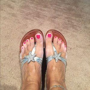Yellow Box Shoes - Yellow Box silver starfish sandals