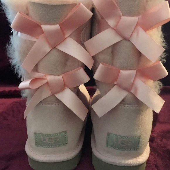 41 Off Ugg Shoes New Light Pink Bailey Bow Uggs From