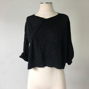 Margaret O'Leary Sweaters - Margaret O'Leary- Black/Yellow Crop Sweater M