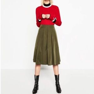 Zara Dresses & Skirts - Zara Olive Skirt NWT