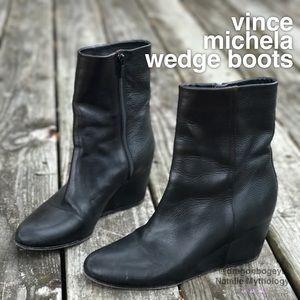 Vince Michela Wedge Boots