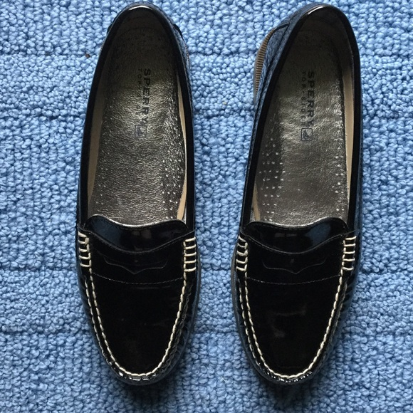 4abc3d057b6 Sperry Top-Sider Black Patent Leather Loafers