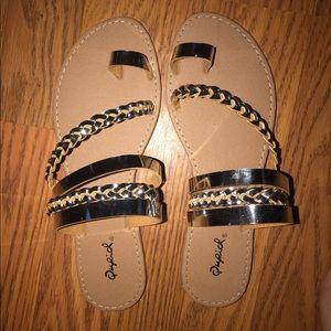 Shoes - silver princess sandals