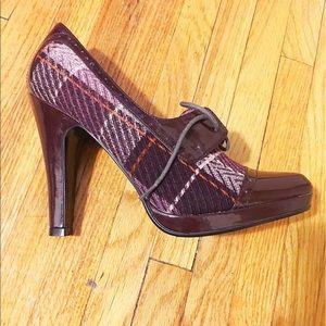 "Steve Madden Shoes - BNWT Steve Madden ""Reilly"" plaid heeled oxfords"