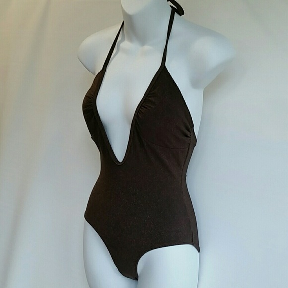 1fb022c1381 Old Navy Brown Shimmer One Piece Swimsuit