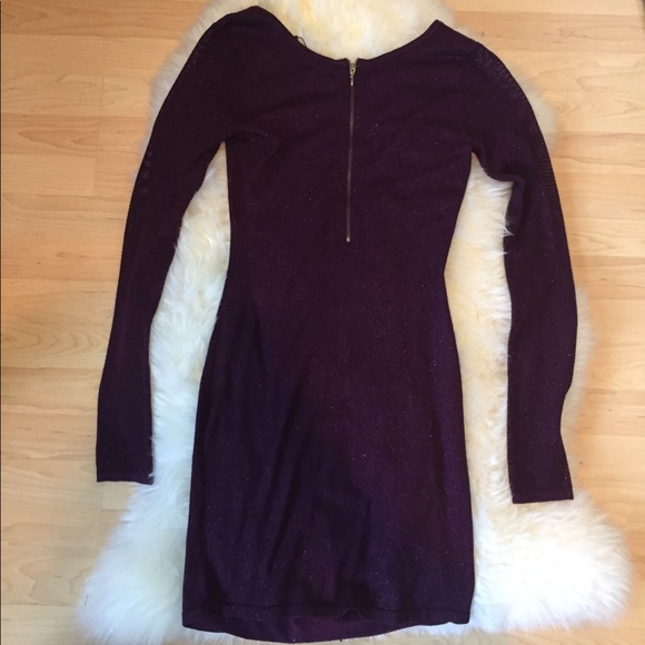 86% off Express Dresses & Skirts - Express Purple Sweater Dress ...