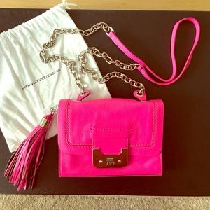 Diane von Furstenberg Handbags - Dvf Mini Leather Hot Pink Harper Cross Body Bag