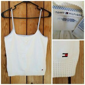 Tommy Hilfiger Tops - Vintage Tommy Hilfiger White Knit Crop Top