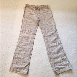 Allen Allen Pants - Allen Allen lightweight linen pants