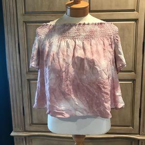 PINK ✨ off the shoulder blouse
