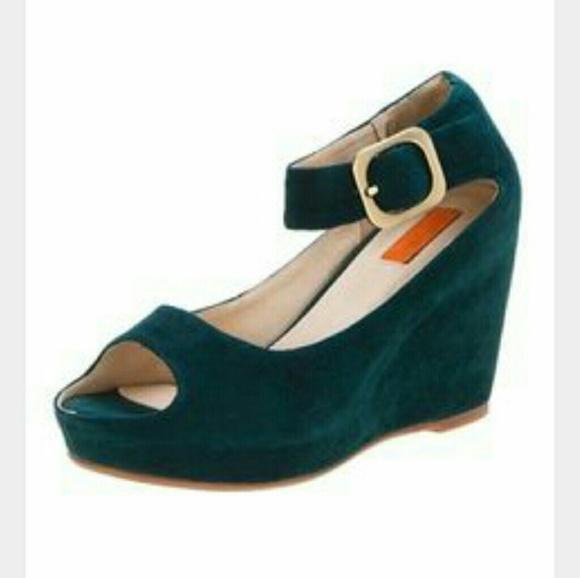 Miz Mooz Shoes Emerald Green Natalie Wedges Size 7