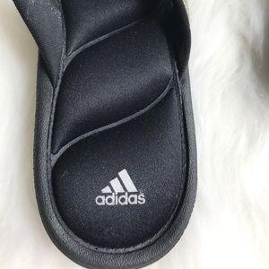 ed4fcfcd2986c adidas Shoes - Adidas Silver Glitter Memory Foam Flip Flops