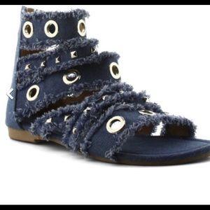 Cape Robbin Shoes - 🔥🔥DENIM FRAYED GLADIATOR OMG🔥🔥