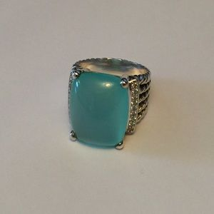 David Yurman Jewelry - David Yurman Chalcedony & Diamond Wheaton Ring