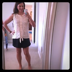 French Laundry Tops - NWT Ivory Lace Button Up Sleeveless Blouse