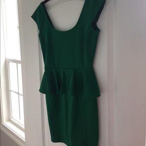 Xtraordinary Dresses & Skirts - Green peplum dress sz small