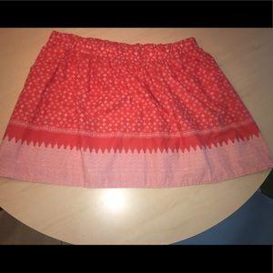 Detailed orange skirt
