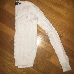 White knit Ralph Lauren sweater