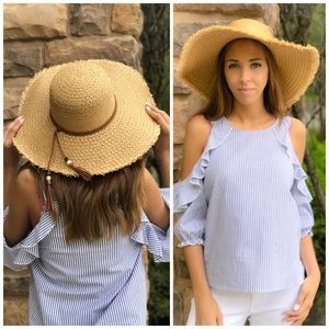 Accessories - Tan Boater Hat