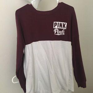 PINK Victoria's Secret Sweaters - VS PINK VARSITY STYLE SWEATER