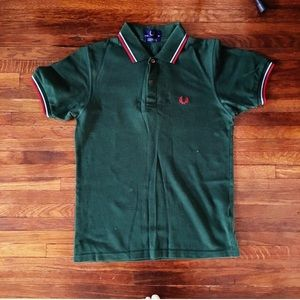 Fred Perry Other - Fred Perry Polo with Twin Tipped in  green polo