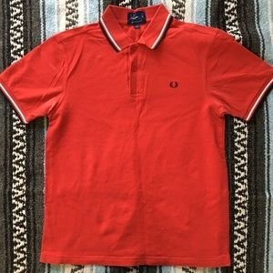Fred Perry Other - Fred Perry Polo with Twin Tipped in Red polo