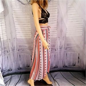 Dresses & Skirts - Boho Gypsy Tribal Floral Maxi Skirt