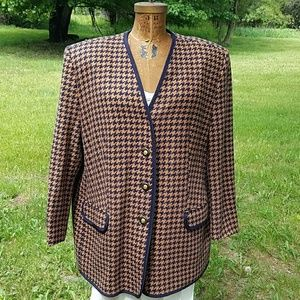 Givenchy Jackets & Blazers - Vintage Givenchy Houndstooth Suit Jacket